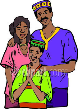 251x350 African American Family Prayer Clipart Cliparthut