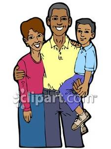 225x300 African American Family Talking Clipart