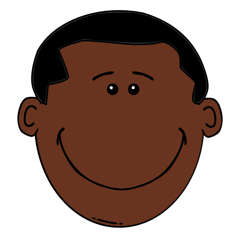 785x800 Black Hair Clipart African American Man