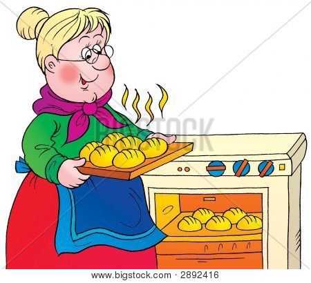 450x410 Graphics For Grandma Cooking Clip Art Graphics