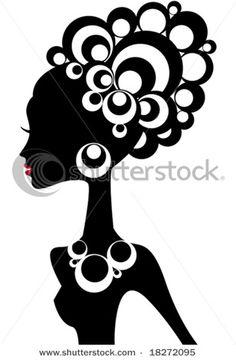 236x360 Afro Silhouette Clip Art Clipart Panda