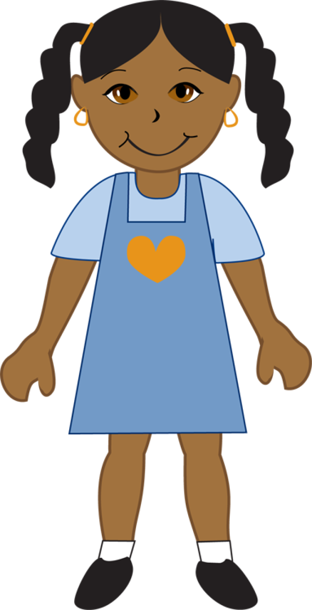 640x1253 Afro American Clipart