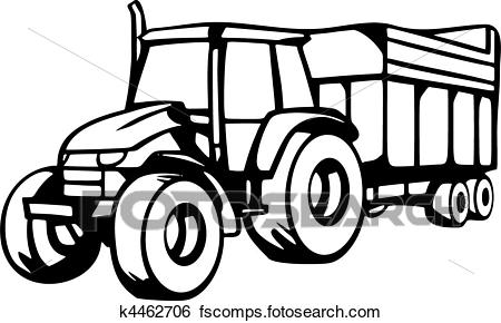 450x290 Clip Art Of Agriculture Vehicles K4462706