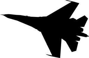 300x195 Airplane Fighter Silhouette Clip Art