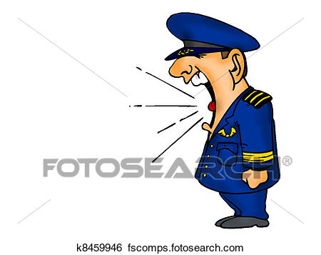 450x357 Stock Illustration Of Air Force Cartoon Shouting K8459946