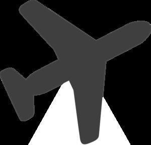 300x288 Grey Airplane Clip Art