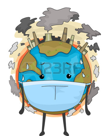 358x450 Illustration Of Air Pollution Stock Photo, Picture And Royalty