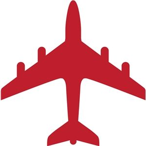 Airplane Banner Clipart