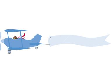 380x285 Airplane Clipart Banner Plane