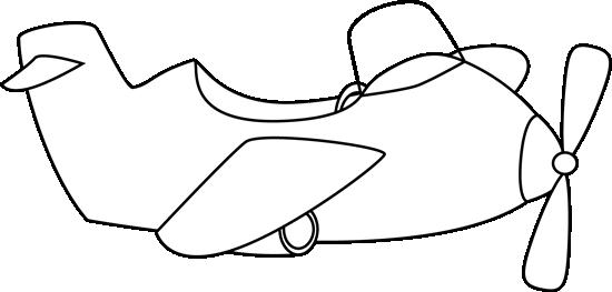 550x263 Cute Black And White Airplane Clip Art
