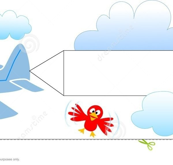 600x572 Airplane Pulling Banner Clipart