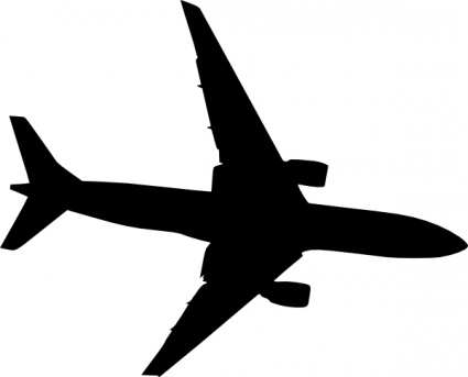 425x343 Plane Silhouet Clip