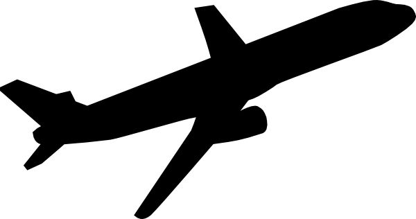 600x316 Best Airplane Clipart Black And White