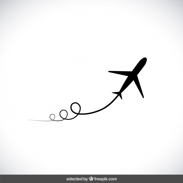 626x626 Black Flying Airplane Vector Free Download
