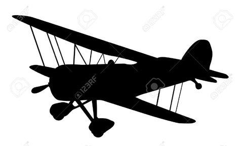 474x288 9716441 Vintage Biplane Silhouette Balck And White Stock Vector