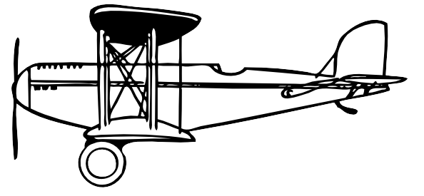 594x275 Vintage Airplane Clipart Black And White