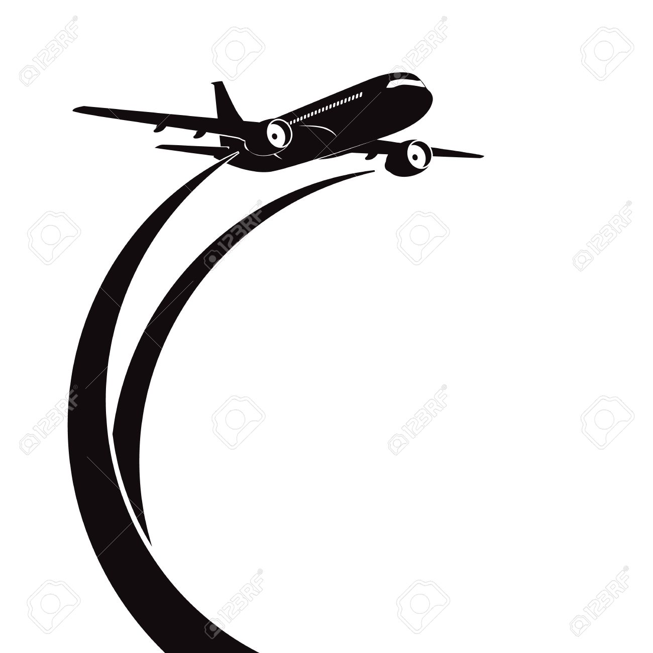 1300x1300 Airplane Royalty Free Cliparts, Vectors, And Stock Illustration