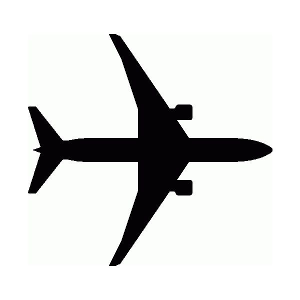 Airplane Black And White Clipart