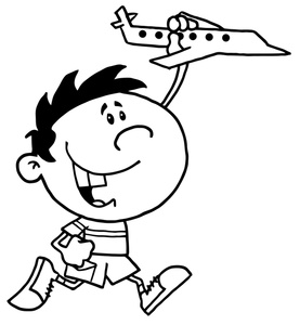 277x300 Boy Playing Clipart Image