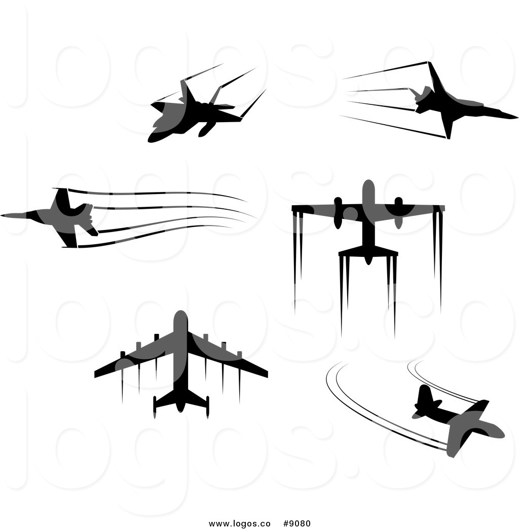 1024x1044 Royalty Free Clip Art Vector Black Silhouetted Airplanes