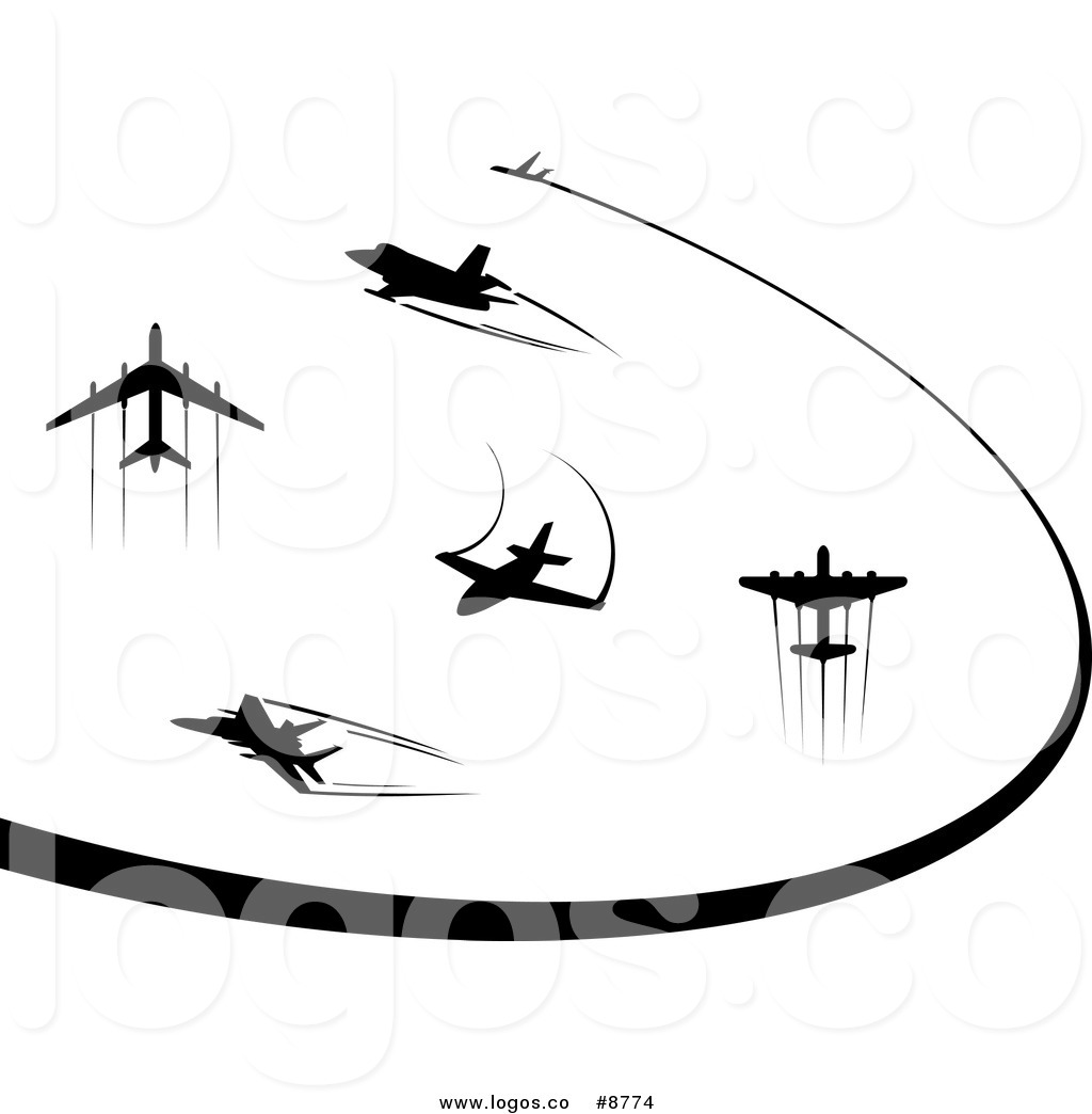 1024x1044 Royalty Free Clip Art Vector Logos Of Black Silhouetted Airplanes