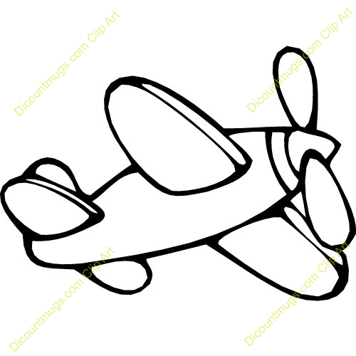 500x500 Airplane Clipart Easy