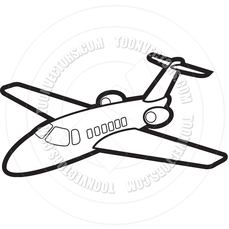940x940 Cartoon Jet Airplane By Lal Perera Toon Vectors Eps