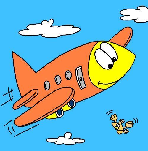 500x509 Plane Clipart Easy