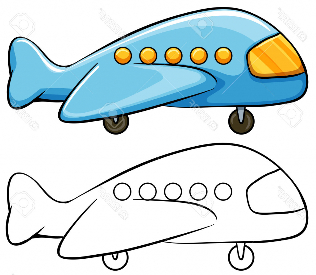 1024x891 Simple Drawing Of Airplane Cartoon Drawing Cartoon Airplane