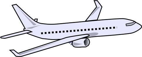 483x194 Airplane Clipart Drawn