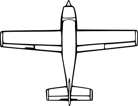 443x340 Airplane Drawing Clipart