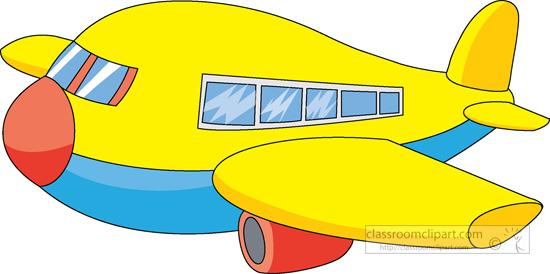 550x274 Cartoons Clipart Yellow Cartoon Style Airplane