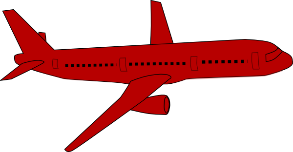 600x312 Red Airplane Clip Art