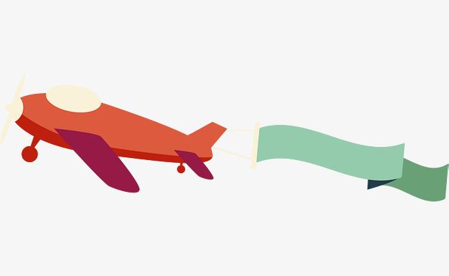 650x400 Red Cartoon Airplane, Cartoon Airplane, Cartoon, Aircraft Png