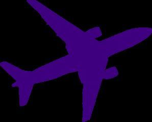 298x240 Small Purple Airplane Clip Art