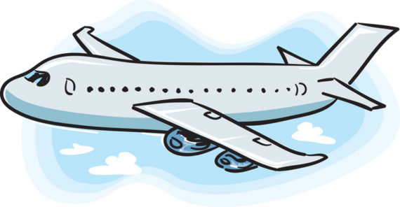 570x296 Airplane Clipart Teal