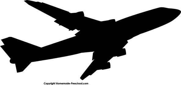 593x279 Airplane Silhouette Clipart