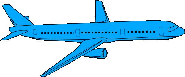 600x251 Aircraft Clipart Blue Airplane