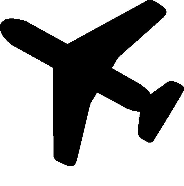 588x595 Clip Art Airplane Silhouette Clipart Kid