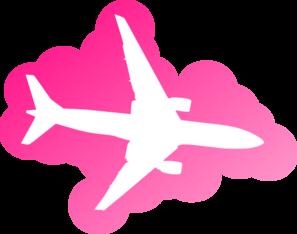 297x234 Pink Airplane Clip Art