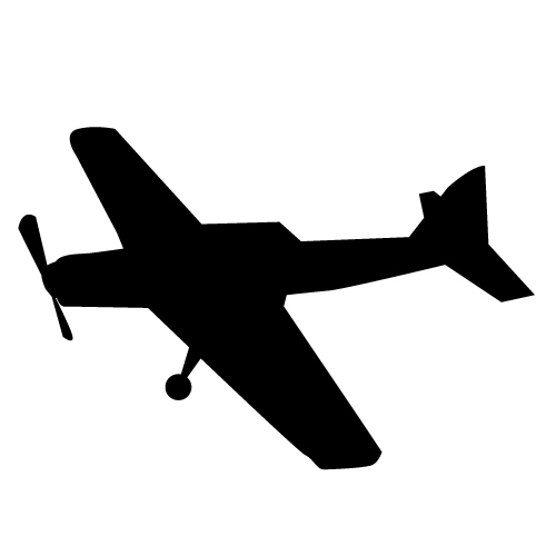 500x500 Free Airplane Clipart Black And White Image