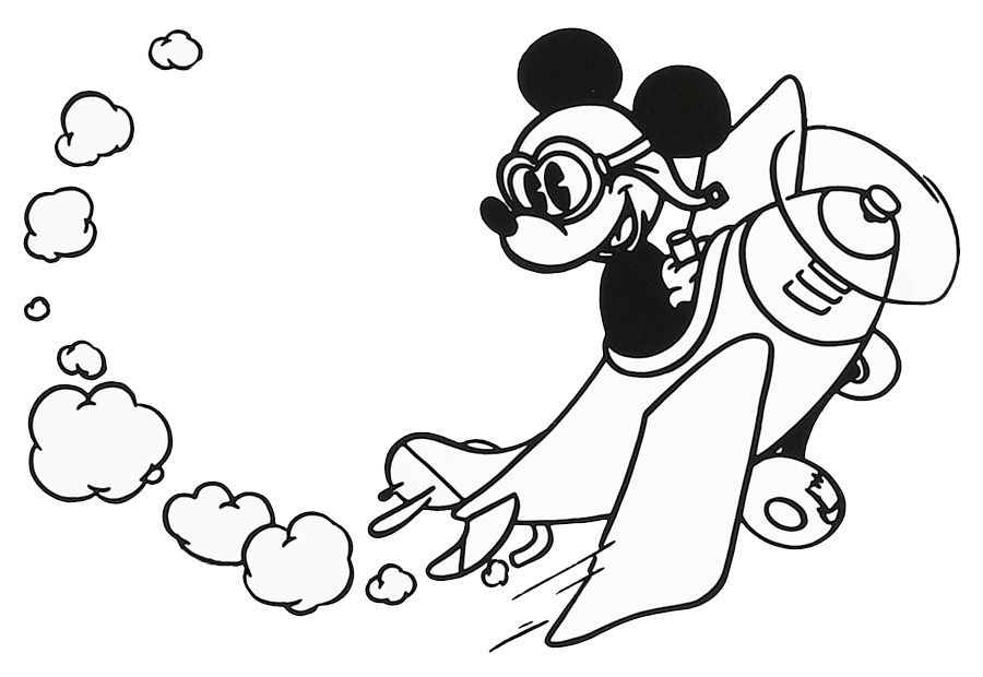 900x620 Mickey Mouse Airplane Clipart
