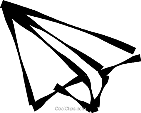 480x387 Paper Airplane Royalty Free Vector Clip Art Illustration Vc023061