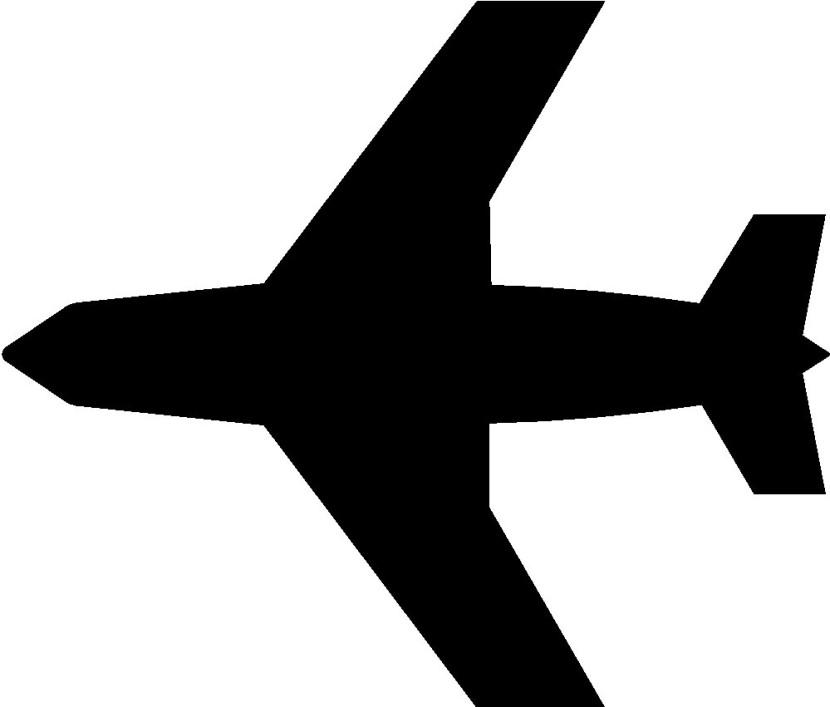 830x707 Plane Clipart Black And White
