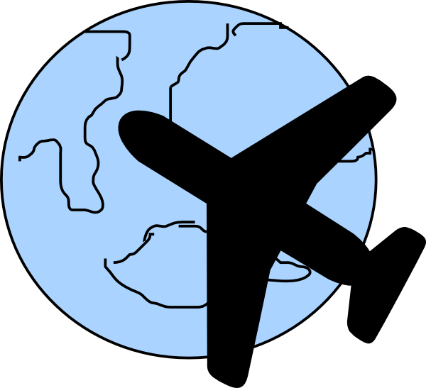 600x547 Free Airplane Travel Clipart Image