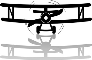 300x198 Free Vintage Airplane Clipart Image