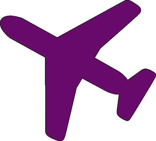 600x543 Purple Airplane Clip Art