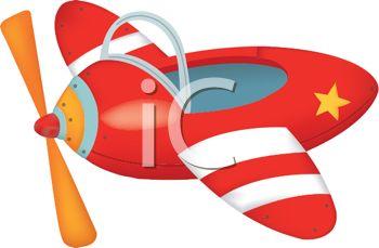 350x229 Royalty Free Clip Art Image Cute Cartoon Toy Airplane