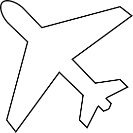270x270 Airplane Outline Clip Art
