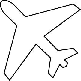 270x270 Airplane Outline Clip Art